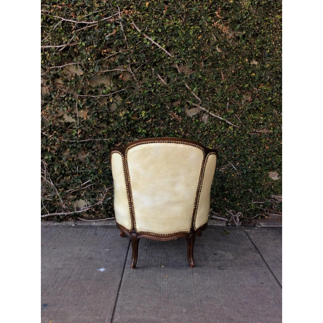 Vintage Leather & Faux Fur Club Chair For Sale - Image 5 of 10