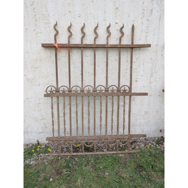 Metal Antique Victorian Iron Gate Architectural Salvage Door For Sale - Image 7 of 7