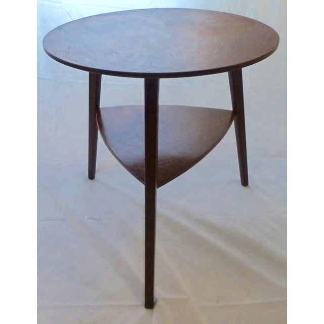 Danish Modern Peter Hdivt Style Side Table - Image 8 of 8