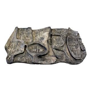 Mid-Century Modern Brutalist Relief Wall Sculpture Finesse Originals Fiberglass For Sale