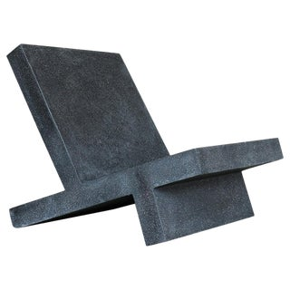 Cast Resin 'Wavebreaker' Lounge Chair, Coal Stone Finish by Zachary A. Design For Sale