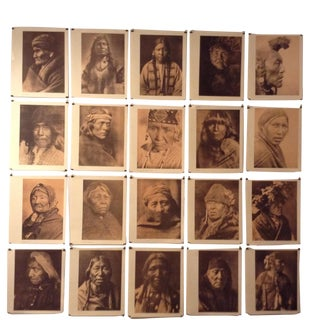 Edward Curtis Orotone Portraits of North American Indians - Set of 20 For Sale