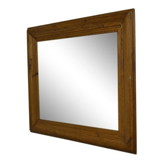 Antique Pine Frame Mirror For Sale
