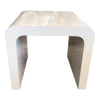 Vintage Karl Springer Style Waterfall Side Table