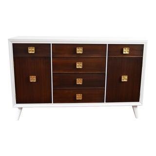 Mid-Century Modern Style White Wood Buffet