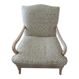 Modern Century Furniture Upholstered Bergere Chair For Sale