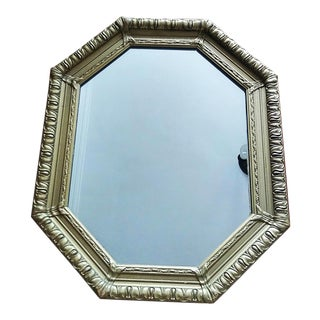 Vintage French Gold Gilt Octagonal Mirror For Sale