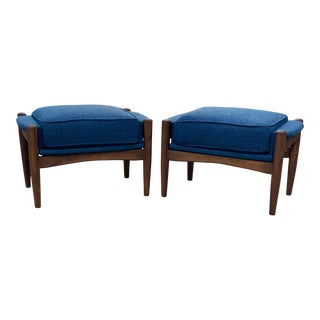 Mid Century Style Ottomans - a Pair For Sale