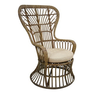 Dunmore Chair, Beige, Rattan For Sale