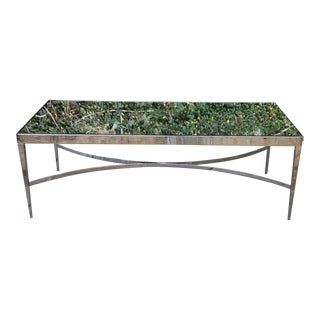Barbara Barry Mirrored Chrome Coffee Table For Sale