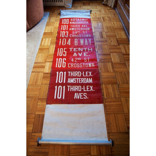 1950s Vintage New York City Transit Trolley Bus Scroll For Sale In New York - Image 6 of 8