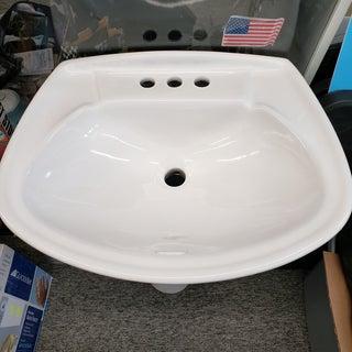 Vintage 1960s Pedestal Porcelain Sink Preview