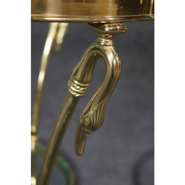 Regency Style Glass Top Brass Gueridons - a Pair For Sale In Philadelphia - Image 6 of 11