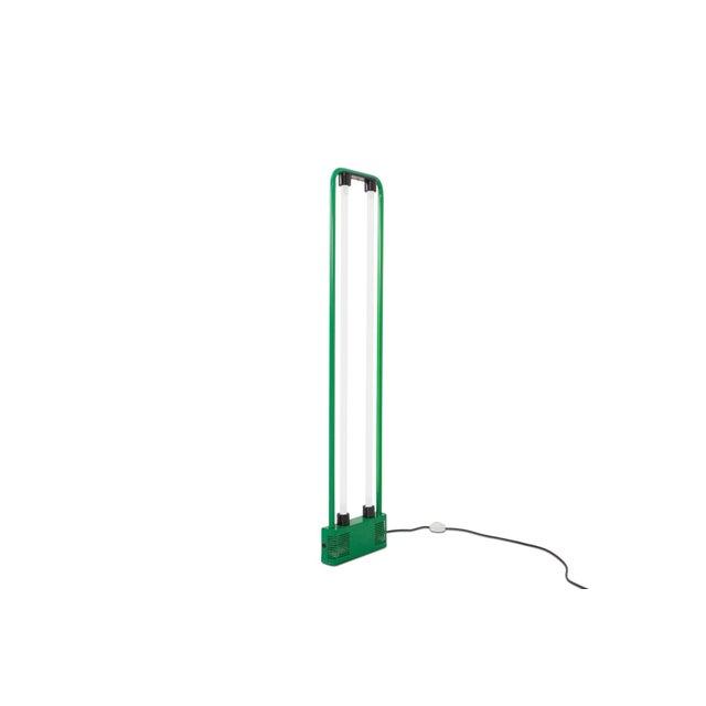 Mid-Century Modern Gian Nicola Gigante Green Neon Floor Lamp For Sale - Image 3 of 8