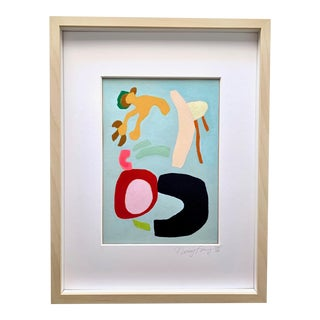 Neicy Frey Abstraction #20 Framed Original Abstract Painting For Sale
