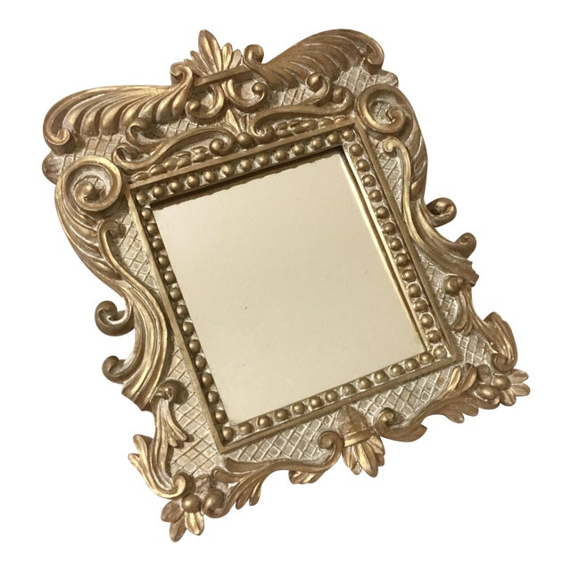 Vintage Baroque Gold Accent Mirror - Image 1 of 2