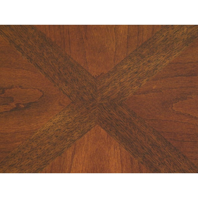 Traditional Ethan Allen Tuscany Collection Walnut Finish Dining Table For Sale In Philadelphia - Image 6 of 13
