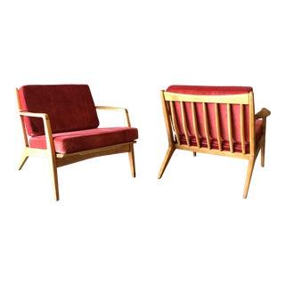 Danish Pair of KoFod Larsen Lounge Chairs For Sale