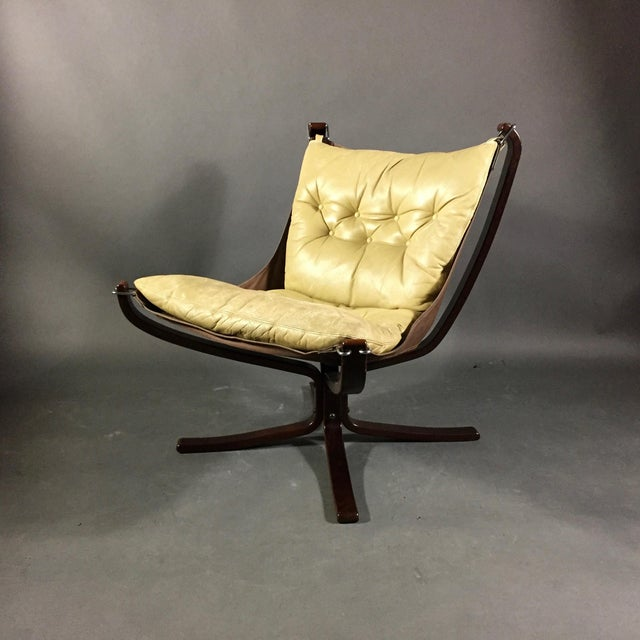 """Vatne Møbler Sigurd Ressell Yellow """"Falcon"""" Low Back Lounge Chair, 1970s For Sale - Image 4 of 12"""