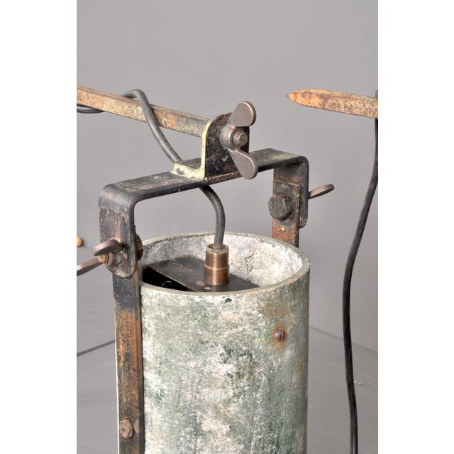 Concrete Outdoor Wall Lamps, Switzerland 1950s For Sale - Image 4 of 8