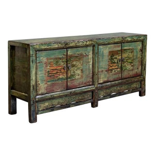 Antique Painted Chinese Sideboard/Cabinet For Sale