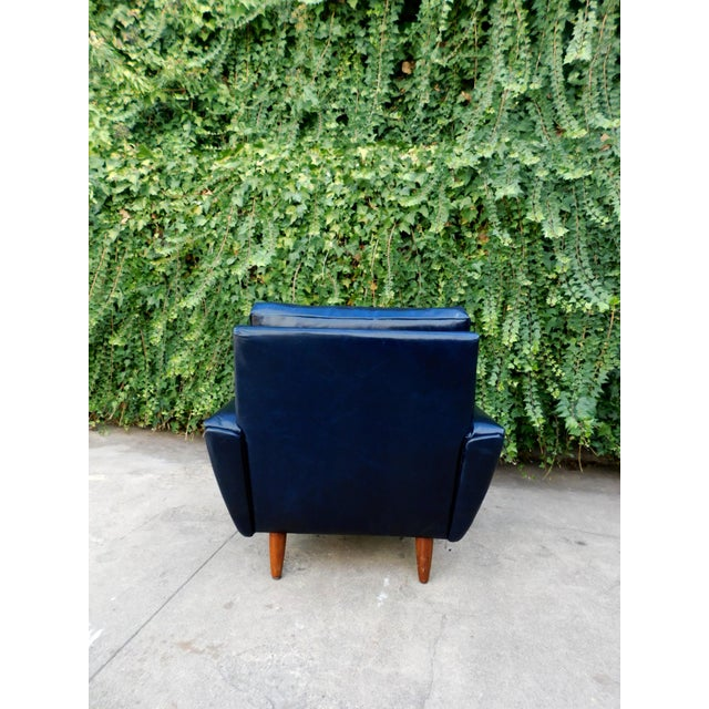 Mid-Century Leather Chair For Sale In San Francisco - Image 6 of 8