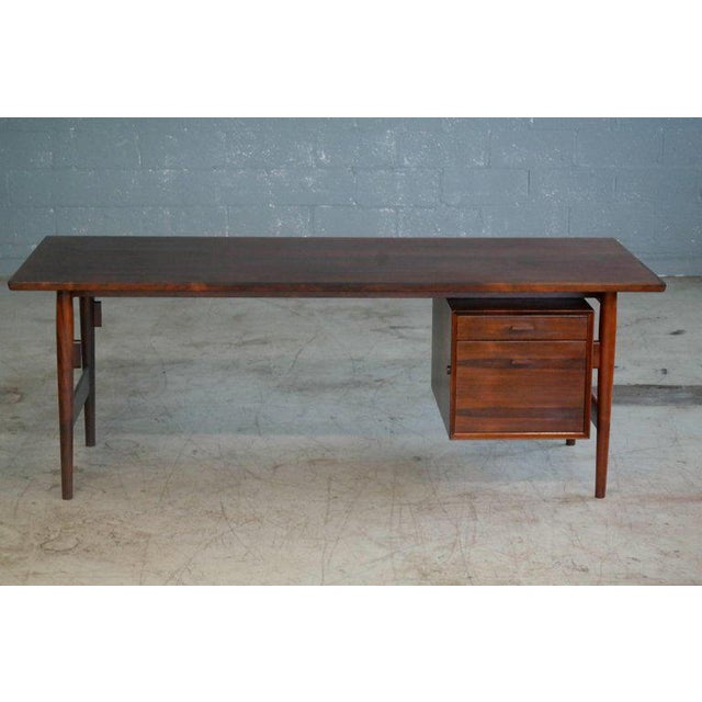 Executive Rosewood Rosewood Desk by Arne Vodder for Sibast From 1950's For Sale - Image 9 of 9