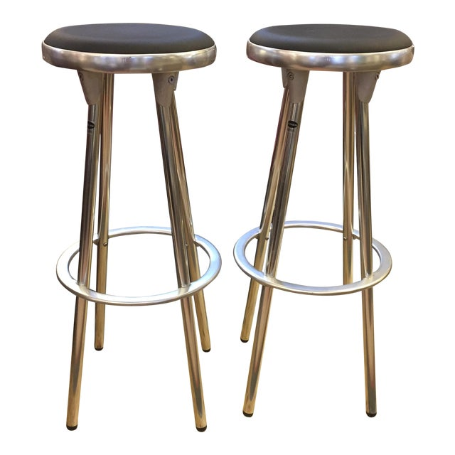 Indecasa Black Barstools - a Pair - Image 1 of 7
