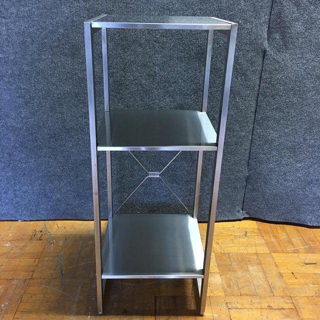 Sleek Silver Metal Shelf - Image 3 of 8