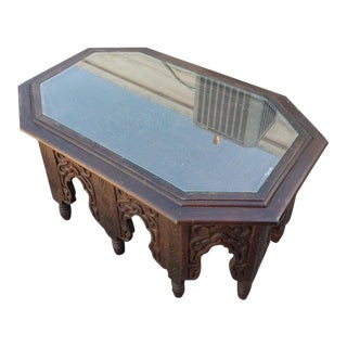 Long Hectagonal Shape Moroccan Coffee Table For Sale