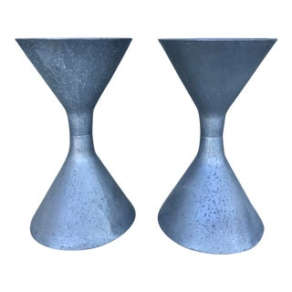 1960s Midcentury Hourglass Belgian Planters in the Style of Willy Guhl For Sale