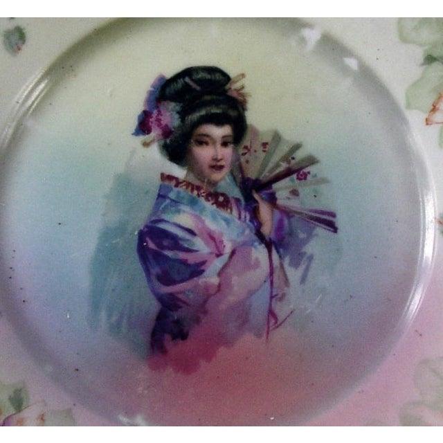 Vintage Geisha Girl Plate - Image 3 of 3