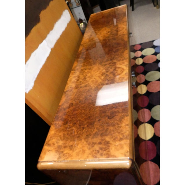 1980s Vintage Roche Bobois Lacquered Burl Wood Credenza For Sale - Image 5 of 12