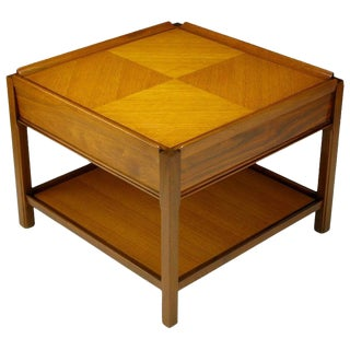Widdicomb Walnut Parquetry Top End Table For Sale
