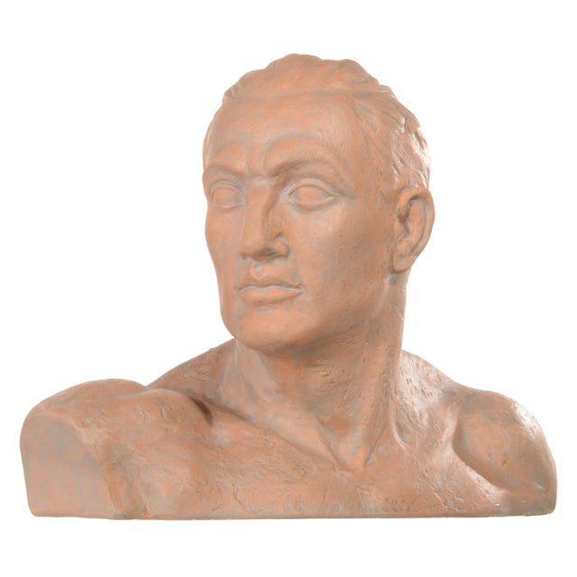 Terracotta Bust of a Man For Sale - Image 10 of 10