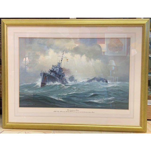 1990s David Brackman Marine Gouache Painting For Sale - Image 12 of 12