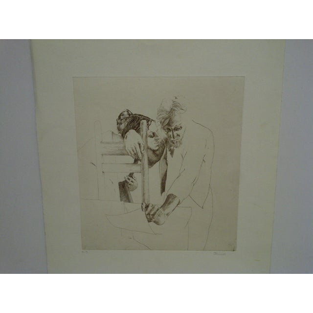 "Impressionist Limited (4/9) Print ""The Couple"" by Perry Macon Oliver For Sale - Image 3 of 8"