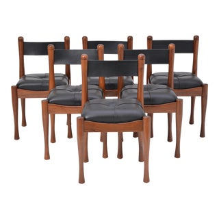 Set of Six Italian Dining Chairs by Silvio Coppola for Bernini For Sale