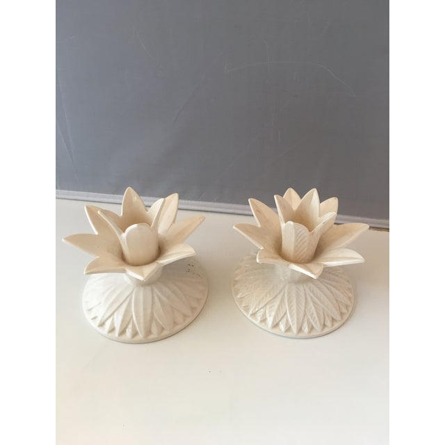 Fitz & Floyd Palm Candleholders - A Pair - Image 3 of 5