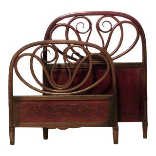 Mahogany Bentwood Twin Bedframe For Sale