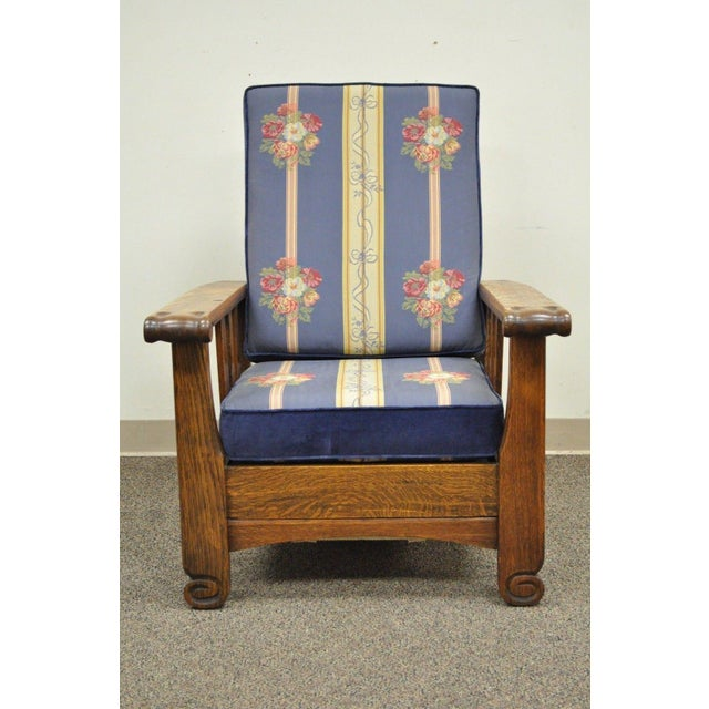 Antique Royal Easy Mission Arts & Crafts Reclining Lounge Morris Chair  Recliner For Sale - Image - Antique Royal Easy Mission Arts & Crafts Reclining Lounge Morris