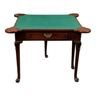 Georgian Mahogany Game Table, English Circa 1780 For Sale