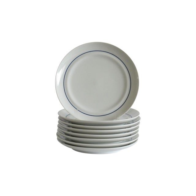 German Blue & White Dessert Plates - Set of 8 - Image 1 of 6