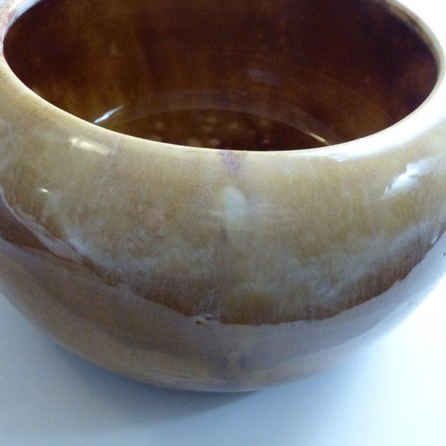 Copper Miali California Ceramic Drip Glaze Pottery Planter For Sale - Image 8 of 11