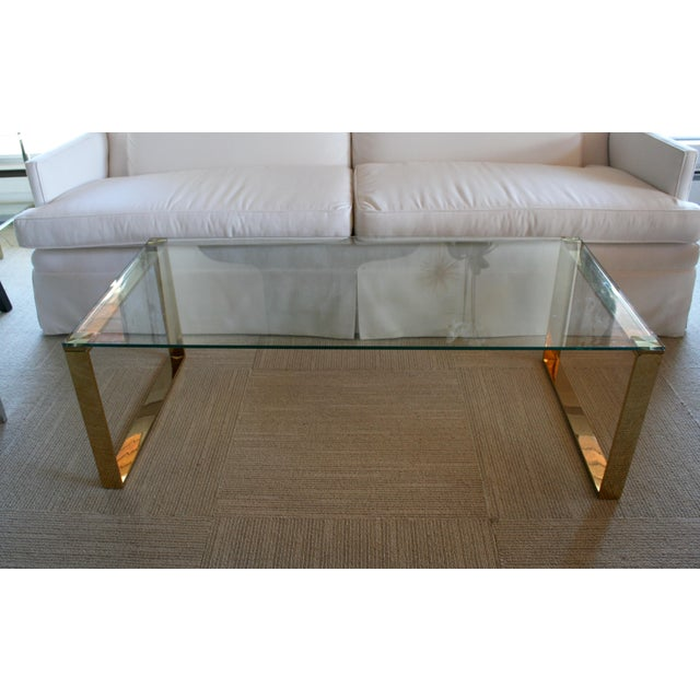 Mid Century Inspired Glass Coffee Table - Image 2 of 5