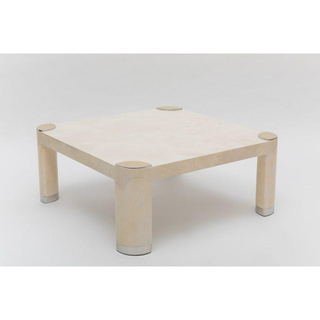 Mid-Century Modern Pair of 1980s Karl Springer Goatskin Occasional Tables For Sale - Image 3 of 11