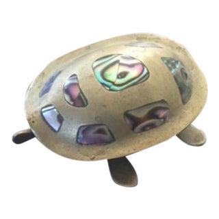 Mid Century Brass Turtle Box For Sale