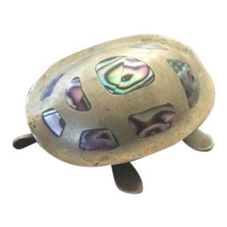 Mid Century Modern Brass Turtle Box For Sale