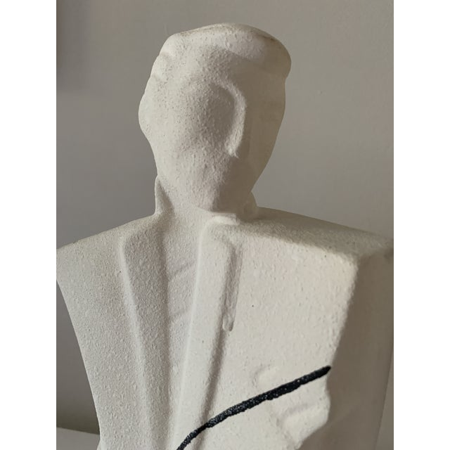 """1980's """"New Wave"""" Figurative Ceramic Sculptures - a Pair For Sale - Image 4 of 8"""