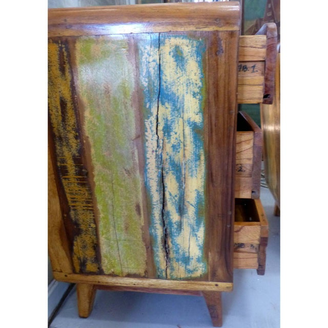 1950's Style Distressed Finish Wood Nightstands -A Pair - Image 8 of 10